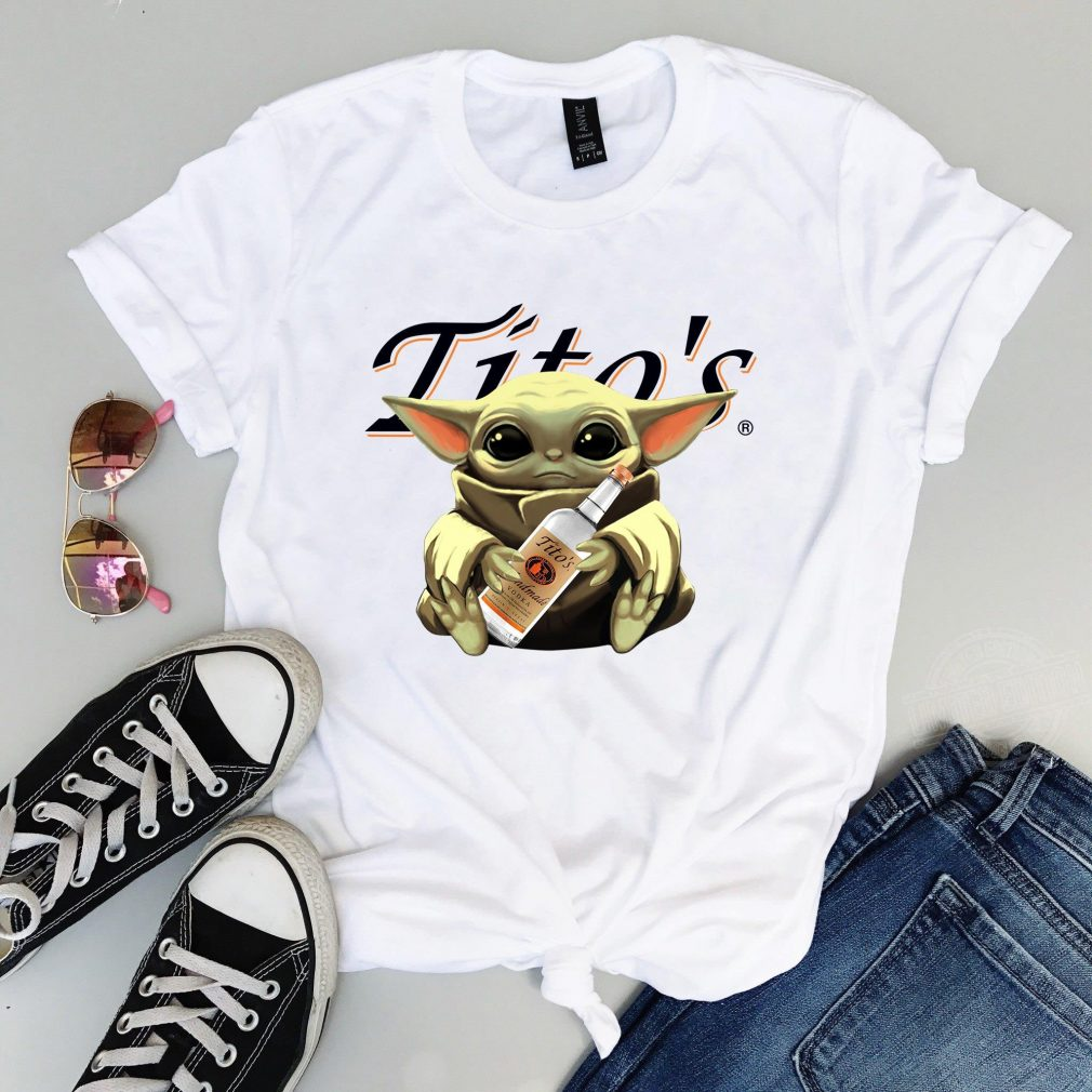 Baby Yoda Drink Tito's Shirt