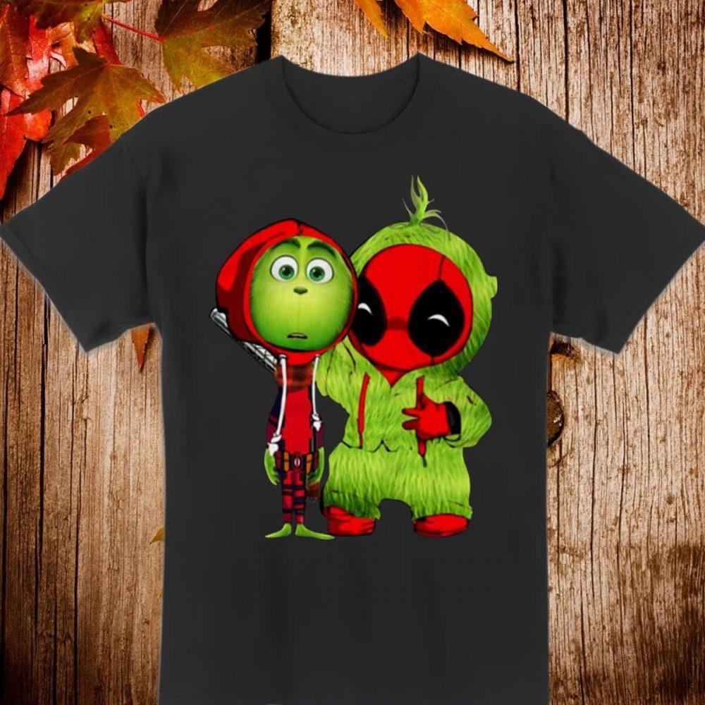 Deadpool And Grinch Baby Christmas funny Shirt