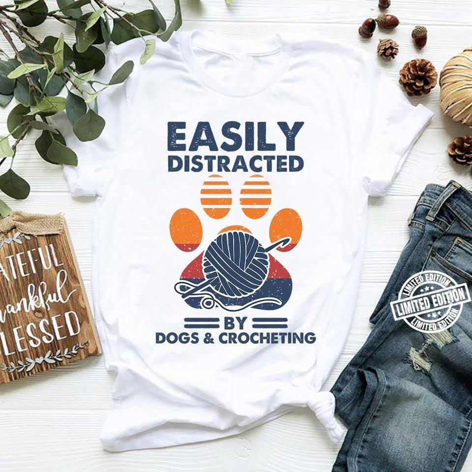 Easily distracted by dofs crocheting shirt
