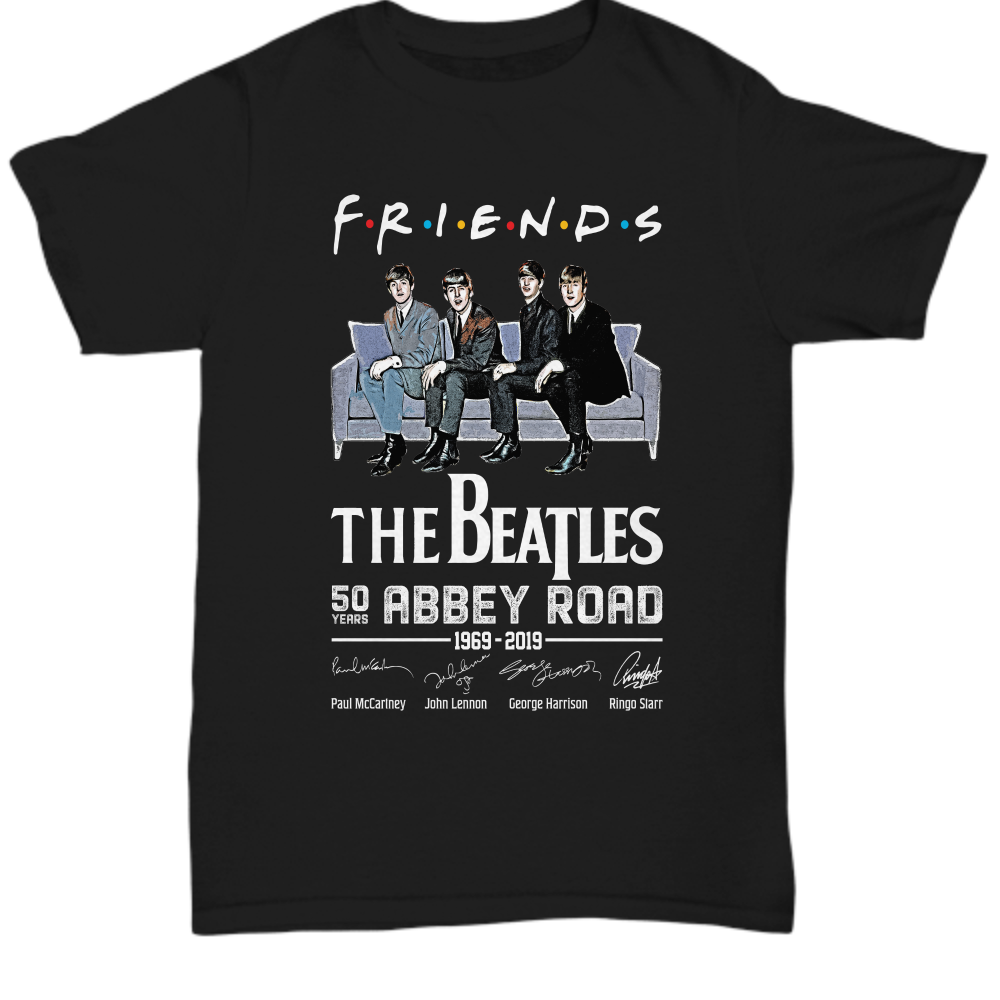 Friends the beatles 50 years abbeyy road 1969-2019 Shirt