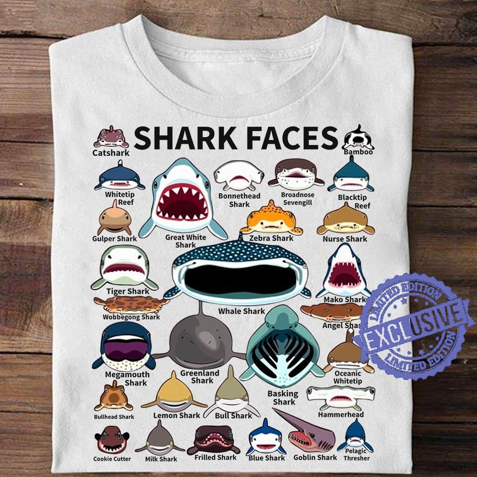 Shark faces shirt