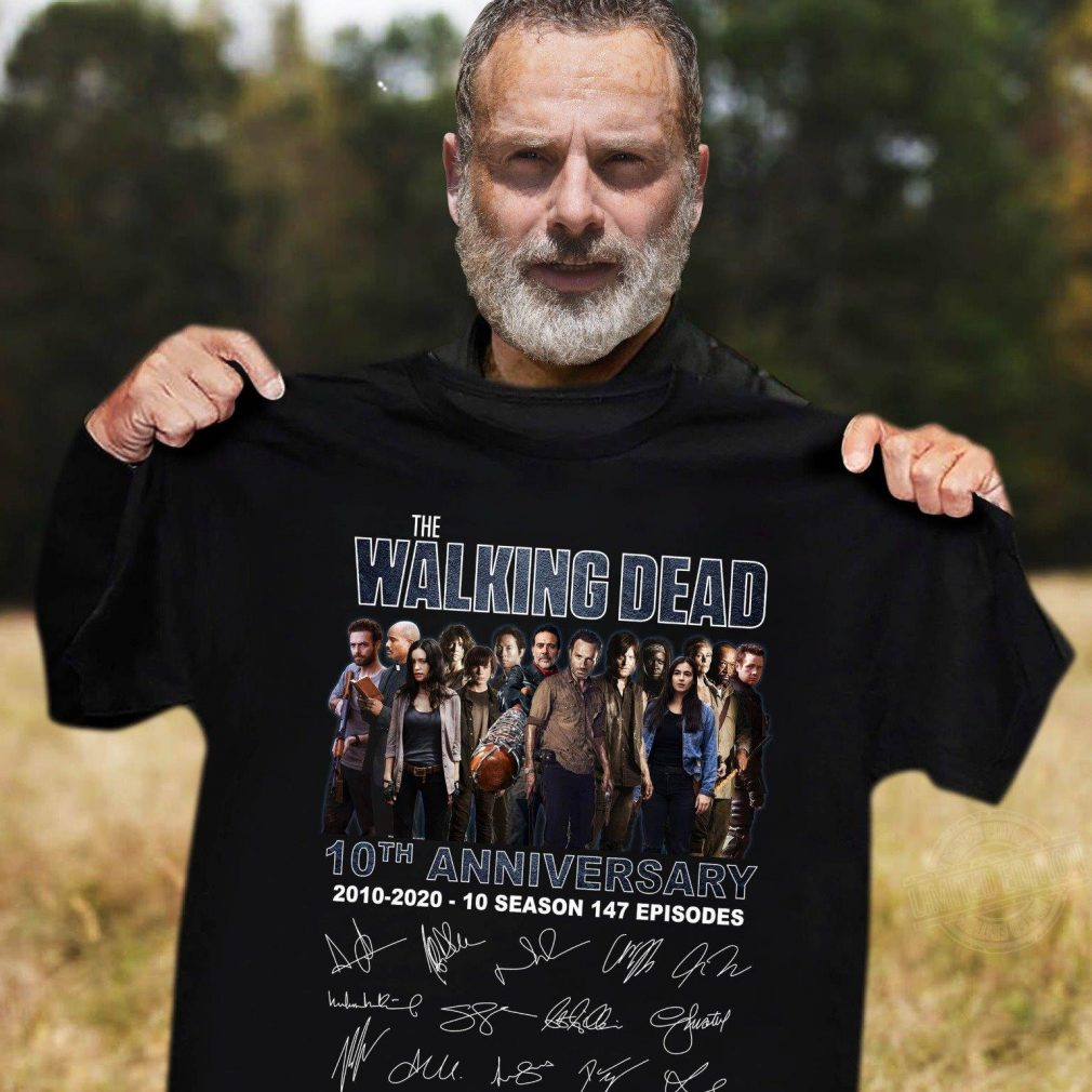 The walking dead 10th anniversary 2010-2020 10 season signature Shirt